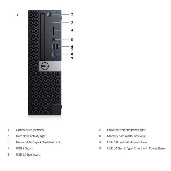 DELL TECHNOLOGIES OPTIPLEX 7070 SFF - thumb - MediaWorld.it