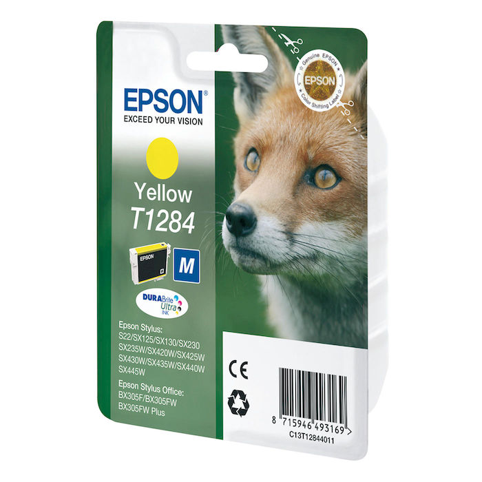 EPSON serie T128 volpe T1284 giallo cartuccia di inchiosto originale - thumb - MediaWorld.it