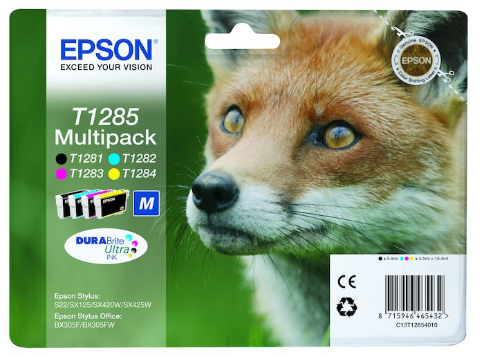 EPSON serie T128 volpe T1285 multipack 4 colori cartucce di inchiosto originale - thumb - MediaWorld.it