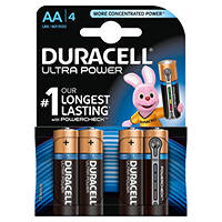 pile stilo alcaline DURACELL Batteria Ultrapower AA Stilo x4pz su Mediaworld.it