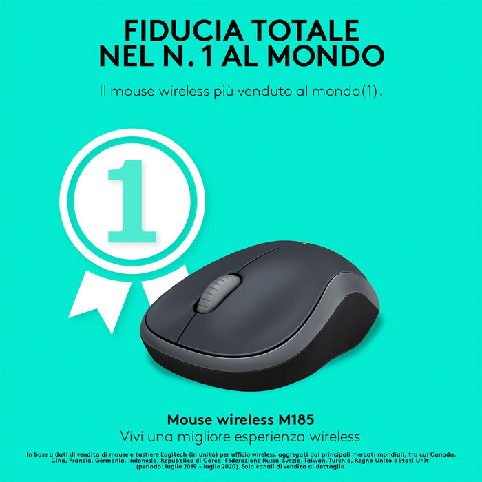 LOGITECH Wireless M185 - thumb - MediaWorld.it