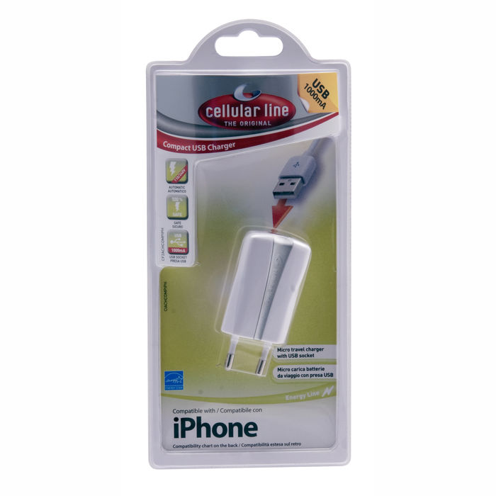 Cellularline USB Charger Compact - Caricabatterie a 5W Bianco - thumb - MediaWorld.it