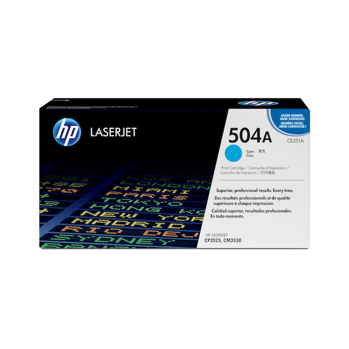 HP 504A Ciano cartuccia toner originale LaserJet CE251A - thumb - MediaWorld.it