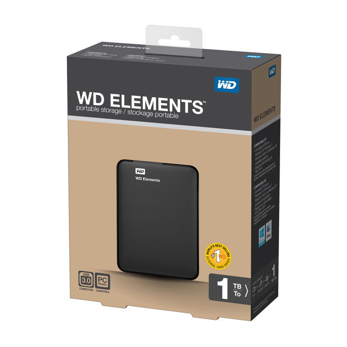 WD Elements 1TB - thumb - MediaWorld.it