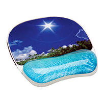 Mouse pad con poggiapolso in gel decorativo FELLOWES MOUSEPAD POGGIAPOLSO SPIAGGIA su Mediaworld.it
