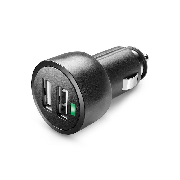 Cellularline USB Car Charger Dual Ultra - Fast Charge Universale Caricabatterie  a 15W per due dispositivi Nero - thumb - MediaWorld.it