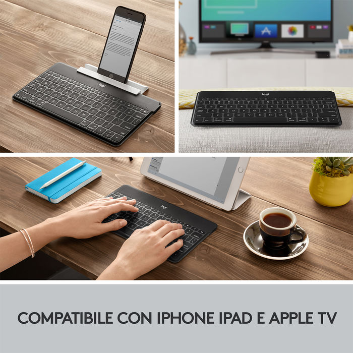 LOGITECH Keys-To-Go Nera - PRMG GRADING ONBN - SCONTO 15,00% - thumb - MediaWorld.it