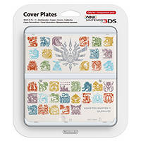 Cover per New 3DS decorativa intercambiabile 'MONSTER HUNTER' NINTENDO Cover Plates Monster Hunter Bianca su Mediaworld.it