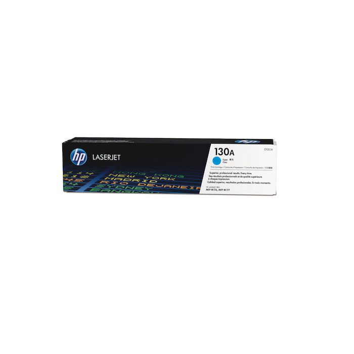 HP 130A Ciano cartuccia toner originale LaserJet CF351A - thumb - MediaWorld.it