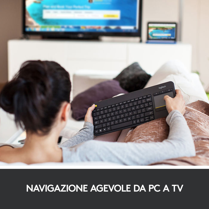 LOGITECH K400 Plus Nera - thumb - MediaWorld.it