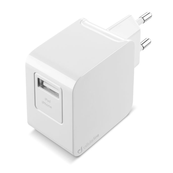 Cellularline USB Charger Kit Ultra - Fast Charge Lightning Cavo e caricabatterie 10W Bianco - thumb - MediaWorld.it