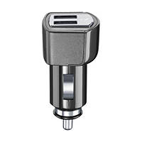 Caricabatteria da auto usb Cellularline USB Car Charger Dual Plus - CaricabatterieUniversale a 21W e finiture in metallo Nero su Mediaworld.it