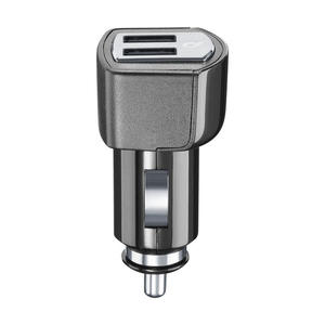 Cellularline USB Car Charger Dual Plus - CaricabatterieUniversale a 21W e finiture in metallo Nero - MediaWorld.it