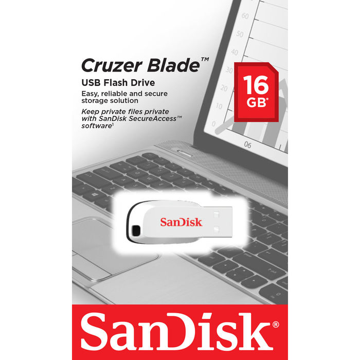 SANDISK Cruzer Blade 16GB Bianco - thumb - MediaWorld.it