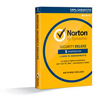 Antivirus SYMANTEC Norton Security Deluxe 2016 1 User/5 Devices su Mediaworld.it