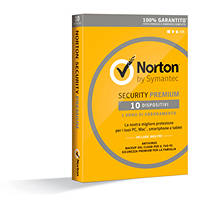 Antivirus SYMANTEC Norton Security Premium 2016 1 User/10 Devices su Mediaworld.it