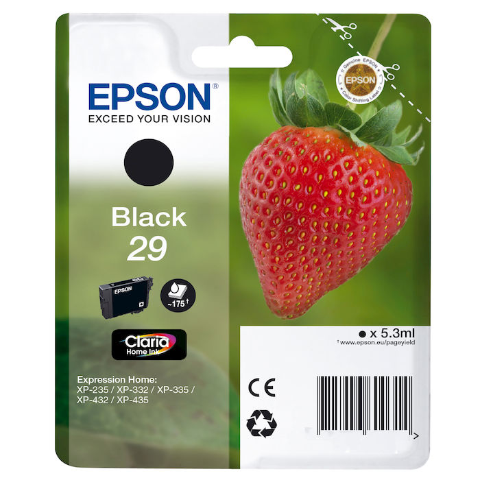 EPSON serie 29 fragola T2981 nero cartuccia di inchiostro originale - thumb - MediaWorld.it