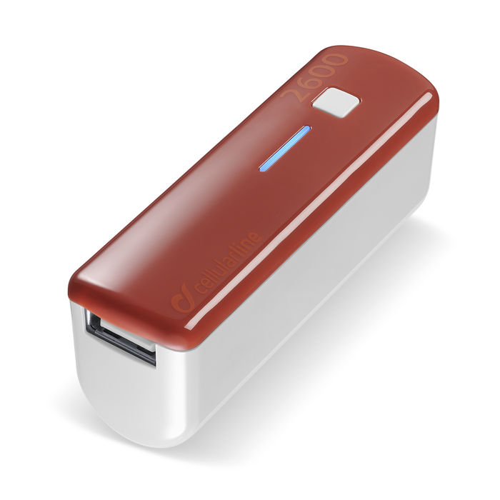 CELLULAR LINE USB Pocket Charger Red - thumb - MediaWorld.it