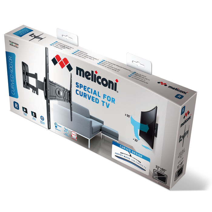 MELICONI SUPP CURVED 400DR NERO - thumb - MediaWorld.it