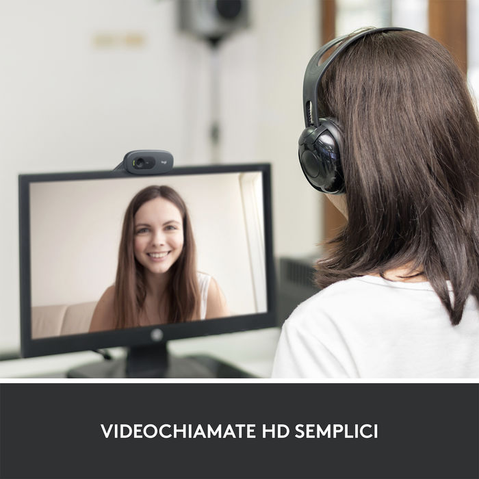 LOGITECH C270 HD Webcam - thumb - MediaWorld.it
