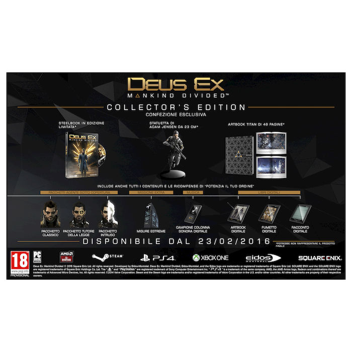 DEUS EX: Mankind Divided (Collector's Edition) - PS4 - thumb - MediaWorld.it