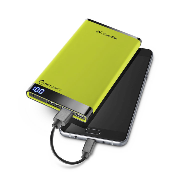 Cellularline Freepower Manta 6000 - Caricabatterie portatile da 6000mAh Verde - thumb - MediaWorld.it