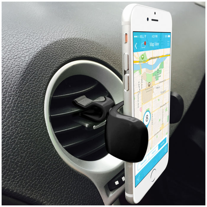 Phonix Hanger Pro - Universal Air-Vent Mobile Phone Holder - Gray - thumb - MediaWorld.it