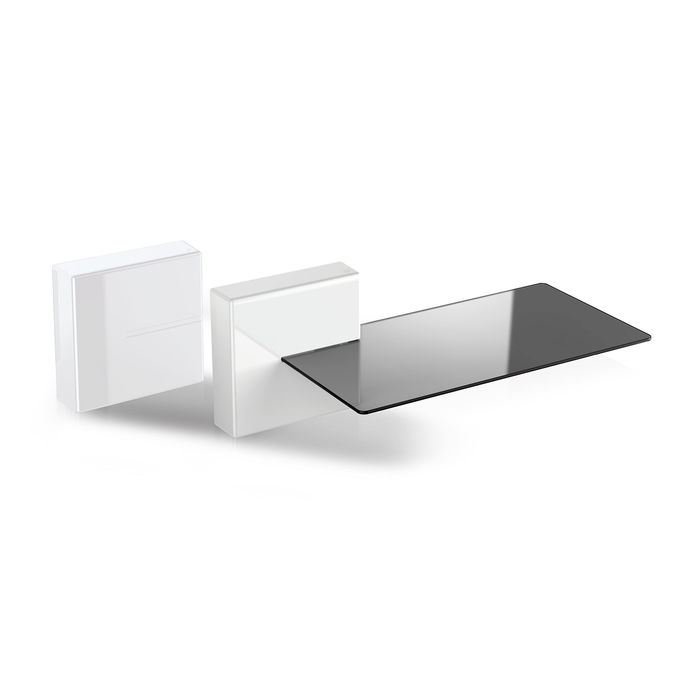 Meliconi Porta Tv Mediaworld.Meliconi Ghost Cube Shelf 2 White Mediaworld It