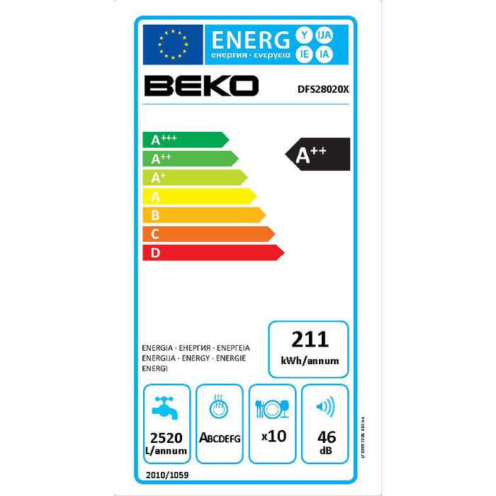 BEKO DFS28020X - thumb - MediaWorld.it