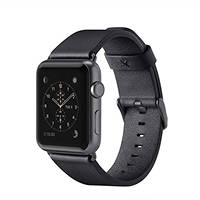 Cinturino classico in pelle per Apple Watch (38 mm) BELKIN CINTURINO PELLE WATCH 38MM NERO su Mediaworld.it