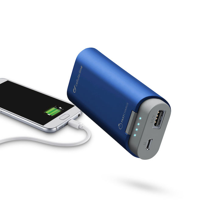 Cellularline Freepower 5200 -  Caricabatterie portatile da 5200mAh con doppia porta USB Blu - thumb - MediaWorld.it