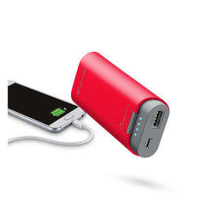 Cellularline Freepower 5200 - Caricabatterie portatile da 5200mAh con doppia porta USB Rosso - thumb - MediaWorld.it
