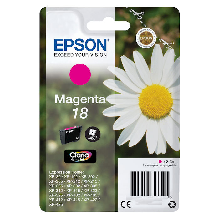 EPSON Inchiostri Claria Home 18 Margherita Magenta - thumb - MediaWorld.it