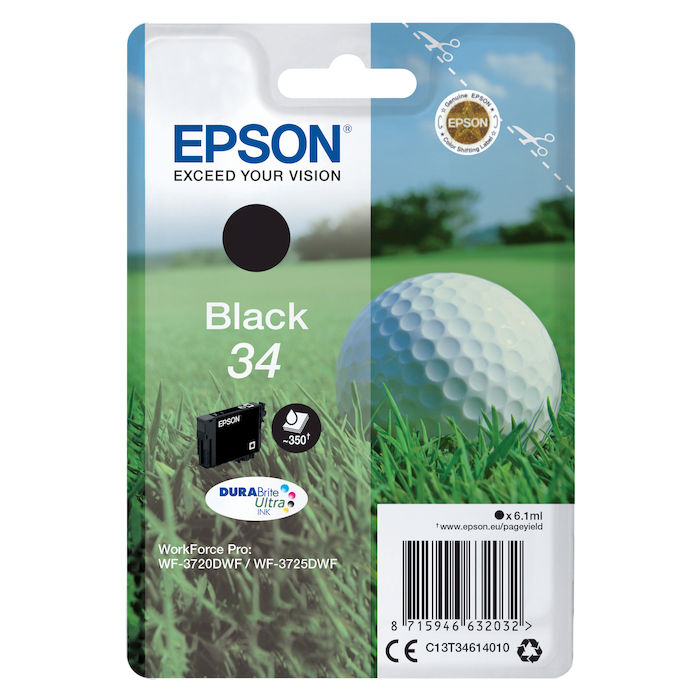 EPSON INK PALLINA GOLF 34BK - thumb - MediaWorld.it