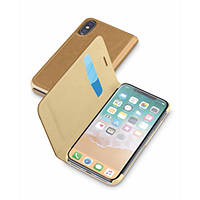 Custodia a libro per iPhone X CELLULAR LINE Custodia Pelle Marrone - iPhone X su Mediaworld.it
