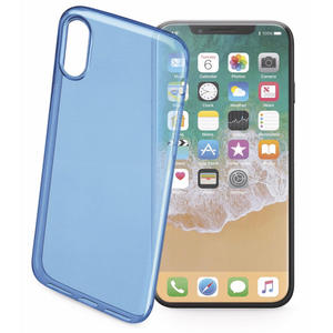 CELLULAR LINE Cover trasparente ultraslim blu - iPhone X - thumb - MediaWorld.it
