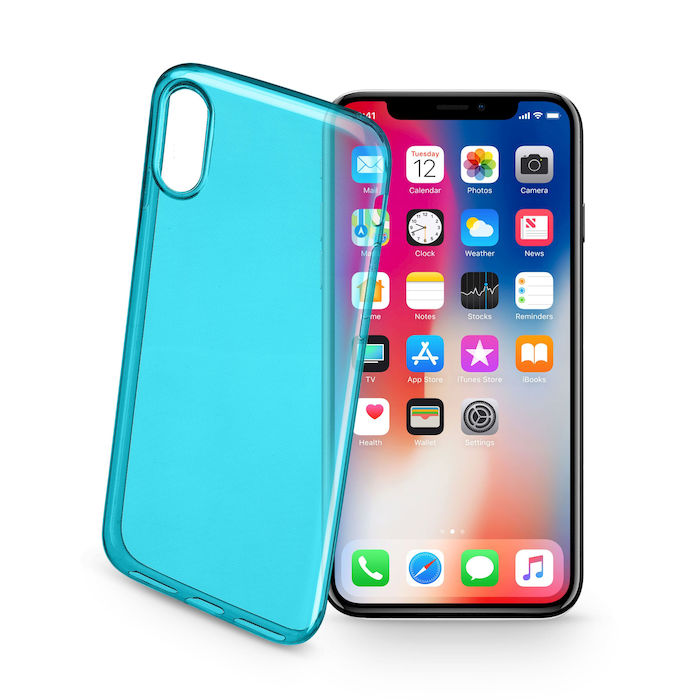 CELLULAR LINE Cover trasparente ultraslim verde - iPhone X - thumb - MediaWorld.it
