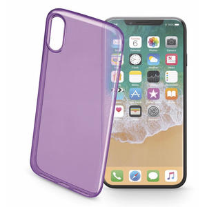 CELLULAR LINE Cover trasparente ultraslim viola - iPhone X - thumb - MediaWorld.it