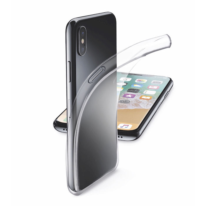 Cellularline Cover Gomma Fine iPhone Xs/X Trasp - thumb - MediaWorld.it