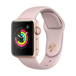 APPLE Watch Series 3 GPS 38 mm alluminio color Oro - Cinturino Sport Rosa Sabbia - MediaWorld.it