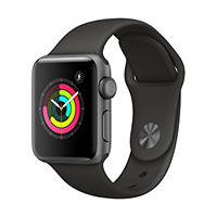 Smartwatch Apple Watch Series 3 GPS 38mm Space Grey - Cinturino Sport Grigio su Mediaworld.it