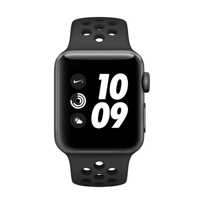 APPLE Watch Nike+ GPS 38mm Space Grey - Cinturino Nero - thumb - MediaWorld.it