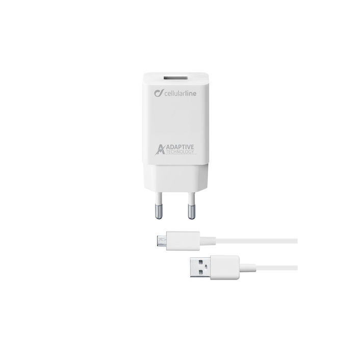 Cellularline Adaptive Fast Charger 15W - Micro USB - thumb - MediaWorld.it