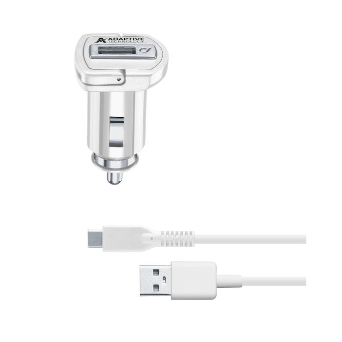 Cellularline Carica Auto Usb-C 15W  Samsung Bianco - thumb - MediaWorld.it