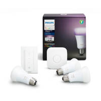 Kit 3 Lampadine E27 bianca e colorate, bridge, interruttore dimmer PHILIPS HUE 929001257361 su Mediaworld.it