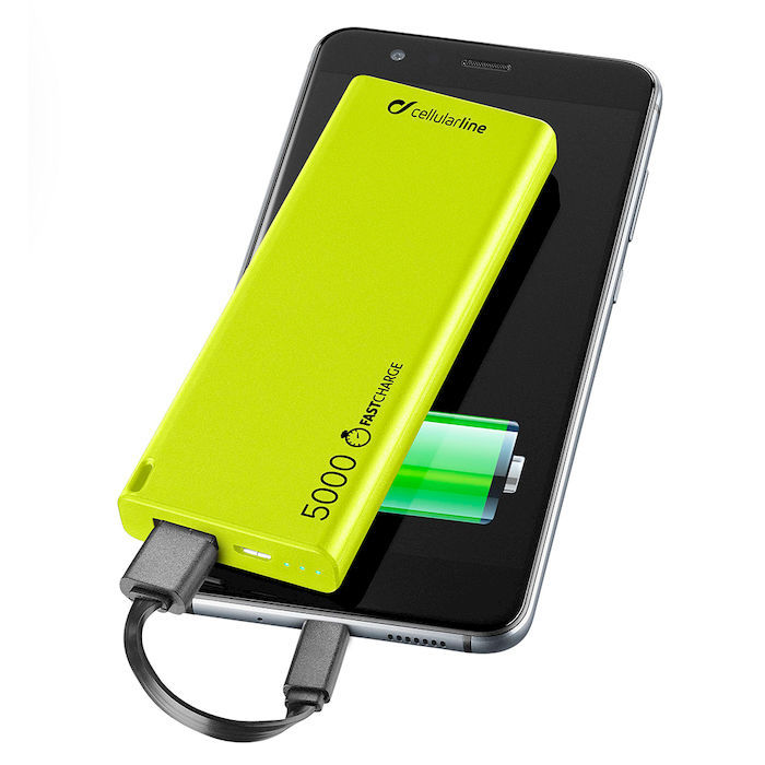 CELLULAR Line Power Bank 5000 mAh Green - thumb - MediaWorld.it