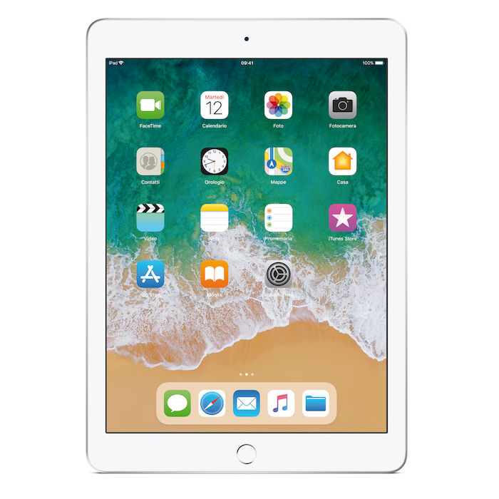 APPLE iPad 2018 Wi-fi  32GB Argento - thumb - MediaWorld.it