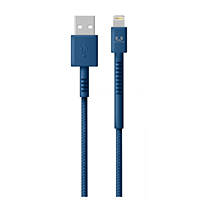 Cavo di ricarica con connettore Lightning per Apple, iPhone, iPad e iPod FRESH 'N REBEL Fabriq Cable with Lightning Connector - 1,5m Indigo su Mediaworld.it
