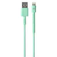 Cavo di ricarica con connettore Lightning per Apple, iPhone, iPad e iPod FRESH 'N REBEL Fabriq Cable with Lightning Connector - 3m Peppermint su Mediaworld.it