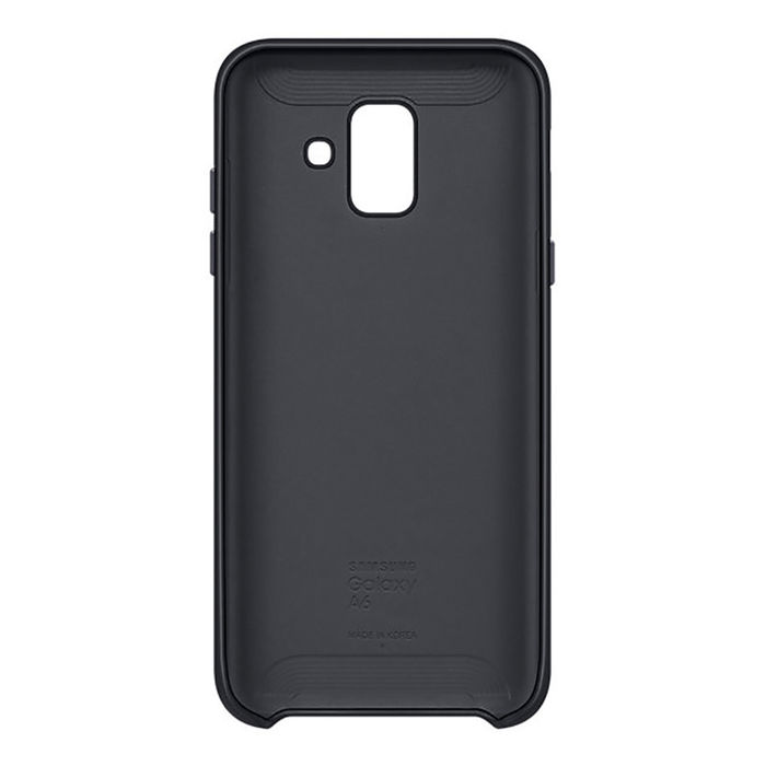 SAMSUNG Dual  Layer Cover Galaxy A6 Black - thumb - MediaWorld.it